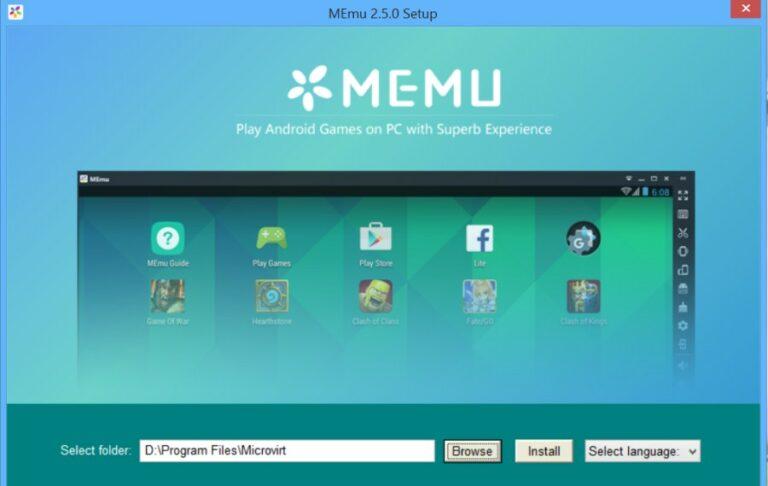 Phần mềm giả lập Android MEmu