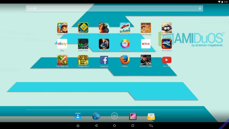 Phần mềm giả lập Android AMIDuOS